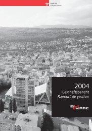 Geschäftsbericht Rapport de gestion - Stadt Biel