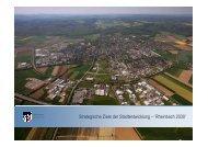 Strategische Ziele der Stadtentwicklung - Rheinbach