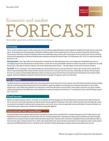Economic and market forecast - Home