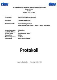 Protokoll - TSV Lindau 1850 e.V. - Abteilung Schwimmen
