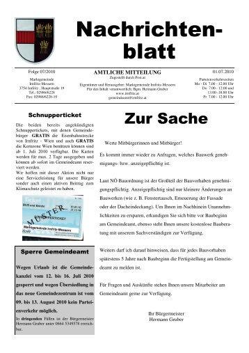 August 2010 - Marktgemeinde Irnfritz-Messern