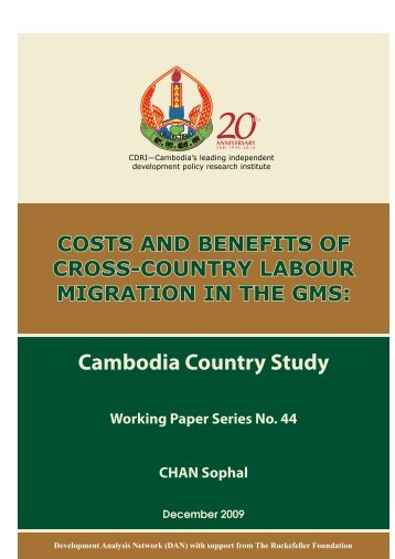 Cambodia Country Study Working Paper Series No. 44 ... - CDRI