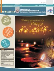 NEWSLETTER - Baroda Branch of WIRC of ICAI