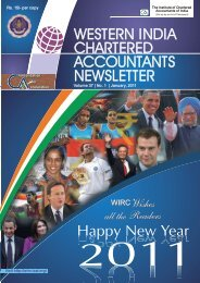 WESTERN INDIA CHARTERED ACCOUNTANTS NEWSLETTER ...