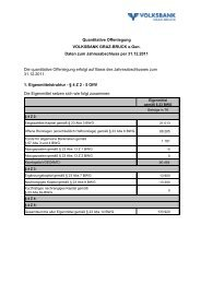 Quantitative Offenlegung - Volksbank Graz-Bruck