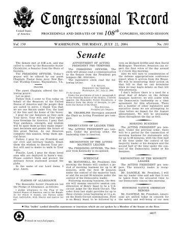 Senate - U.S. Government Printing Office