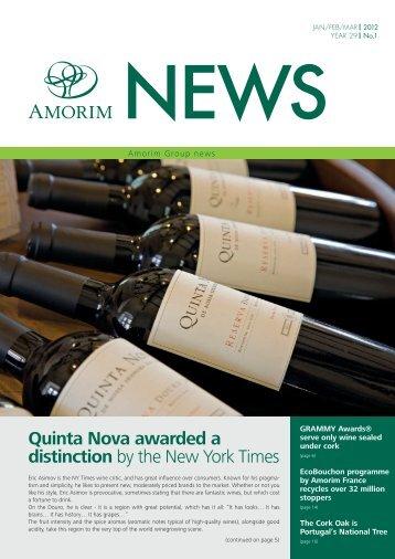 Quinta Nova awarded a distinction by the New York Times - Amorim