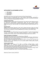 LATTIALÄMMITYS JA WICANDERS-LATTIAT: - Korkkitrio Oy