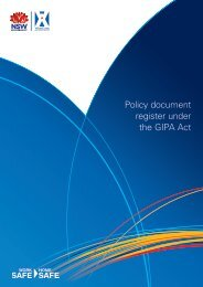 Policy document register under the GIPA Act - WorkCover NSW