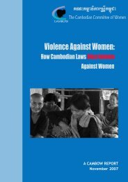 How Cambodian Laws Discriminate Against Women - CEDAW ...