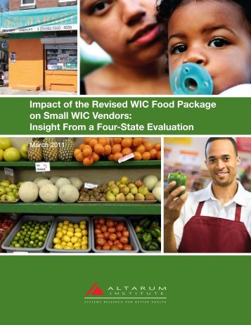Impact of the Revised WIC Food Package on ... - Altarum Institute