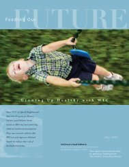 Feeding Our Future: Growing up Healthy with WIC - Children's ...