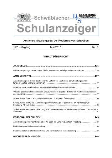 Mai 2010 - Regierung von Schwaben - Bayern