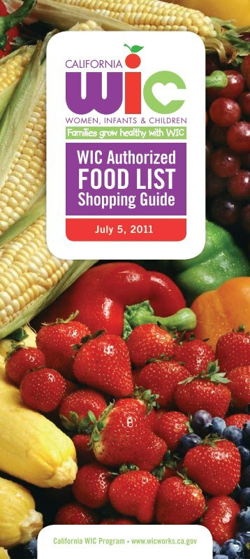 WIC Authorized Food List Shopping Guide - California Department ...