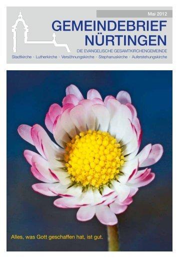 Gemeindebrief Nürtingen - Evangelische Gesamtkirchengemeinde ...