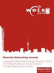 from the WDLS-EU Patron Josef Pröll - European Diversity ...