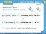 B2B Diversity Night 2011 am Dienstag, dem 21. Juni ... - Simacek