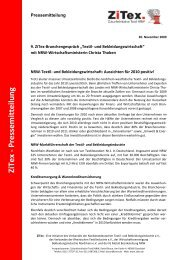 ZiTex - Pressem itteilung - Verband der Nordwestdeutschen Textil
