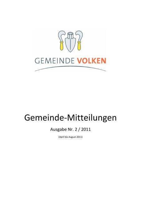 Gemeinde-Mitteilungen Nr. 2 / 2011 - Gemeinde Volken