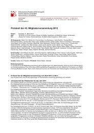 Protokoll der 43. Mitgliederversammlung 2012 - Schweizerische ...
