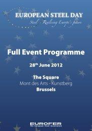 Full Event Programme - Eurofer
