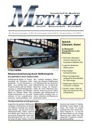 Special: Edelstahl, Nickel - Metall-web.de