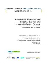 3 Gelingensbedingungen für Kooperationen zwischen Schule und ...