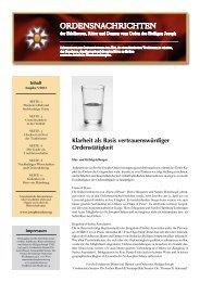 Der St.-Josephs-Orden gratuliert! - Jochen Ressel