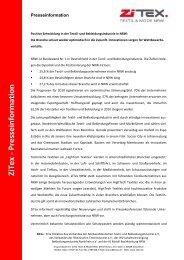 ZiTex - Presseinformation