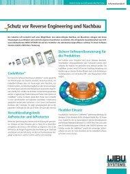 Schutz vor Reverse Engineering und Nachbau - Wibu-Systems