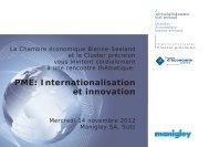 PME: Internationalisation et innovation - Institute for Entrepreneurship