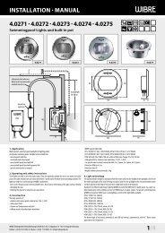 InstallatIon · Manual 4.0271 · 4.0272 - Wibre Elektrogeräte Edmund ...