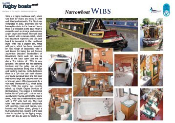 Narrowboat Wibs - Rugby Boat Sales