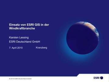 Standortplanung mit ArcGIS - Geoinformatik 2010