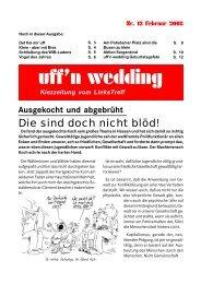 KiezZeitung der Linkspartei - DIE LINKE. im Wedding