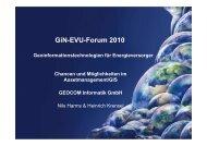 GiN-EVU-Forum 2010 Geoinformationstechnologien für ...