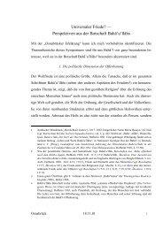 Universaler Friede? — Perspektiven aus der ... - Udo Schaefer