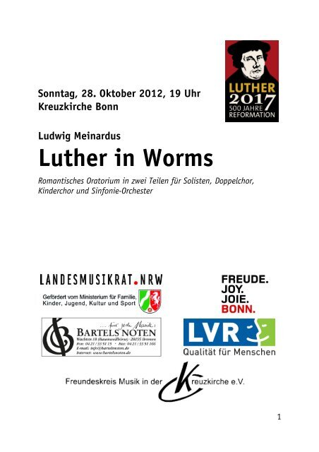 Programmheft zum Download als pdf - Kreuzkirche Bonn