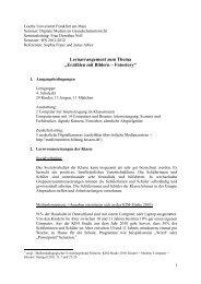 Unterrichtseinheit Fotostory - Hessen