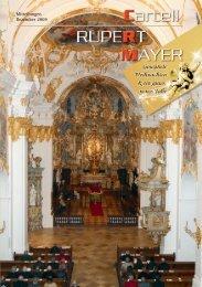 Liebe Freundinnen und Freunde - Cartell Rupert Mayer