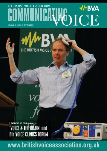 Featured in this issue - British Voice Association