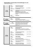 Regelmäßige und besondere Veranstaltungen im Juni - Page 7