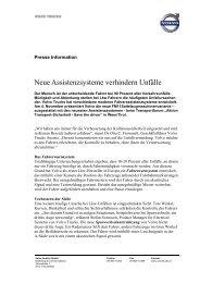 Neue Assistenzsysteme verhindern Unfälle - inPublic