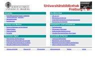 Entleih- / Benutzungsmöglichkeit - Universitätsbibliothek Freiburg ...