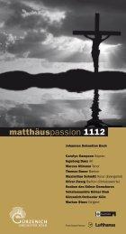 matthäuspassion 1112 - Gürzenich Orchester