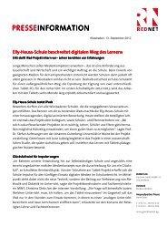 [PDF] Pressemitteilung: Elly-Heuss-Schule beschreitet ... - PresseBox