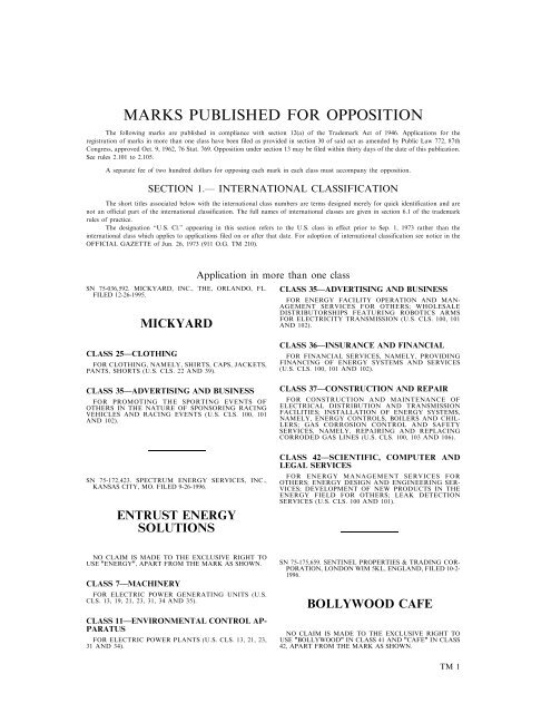 03 December 2002 - U S  Patent and Trademark Office