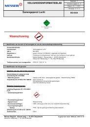 MSDS CLP DPD Lucht NL