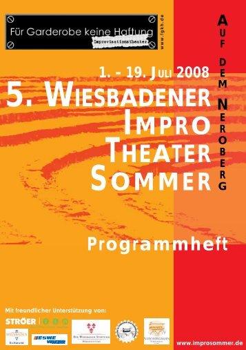 5. wiesbadener impro theater sommer - Improsommer in Wiesbaden