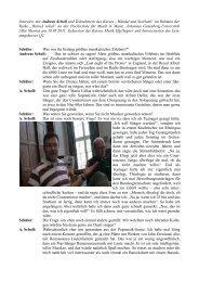 Interview mit Andreas Scholl - Leibnizschule Wiesbaden